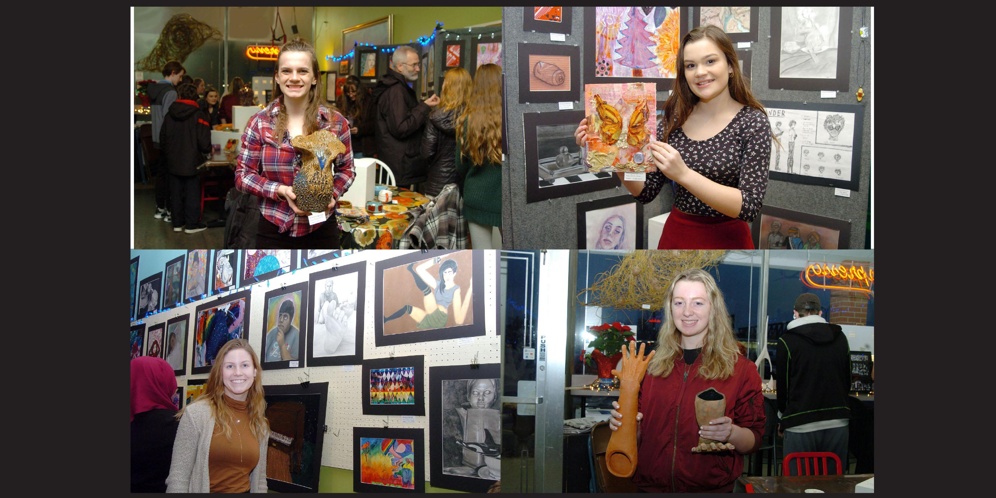 Willowbrook Student Art Show displayed in Villa Park coffee house