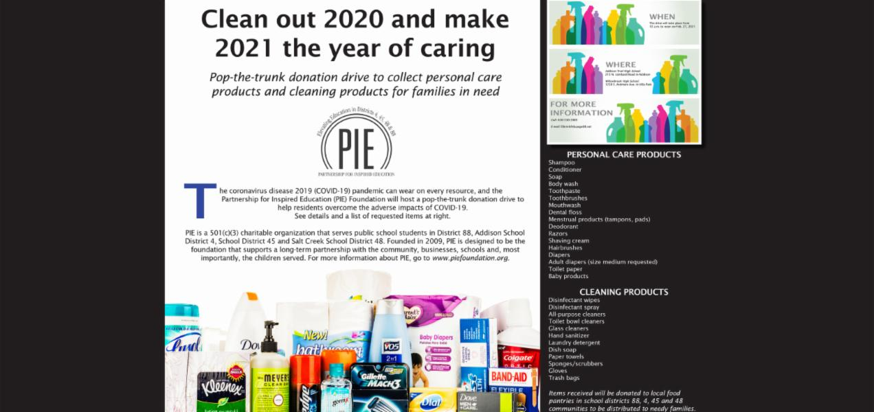 Partnership for Inspired Education Foundation to host pop-the-trunk donation drive