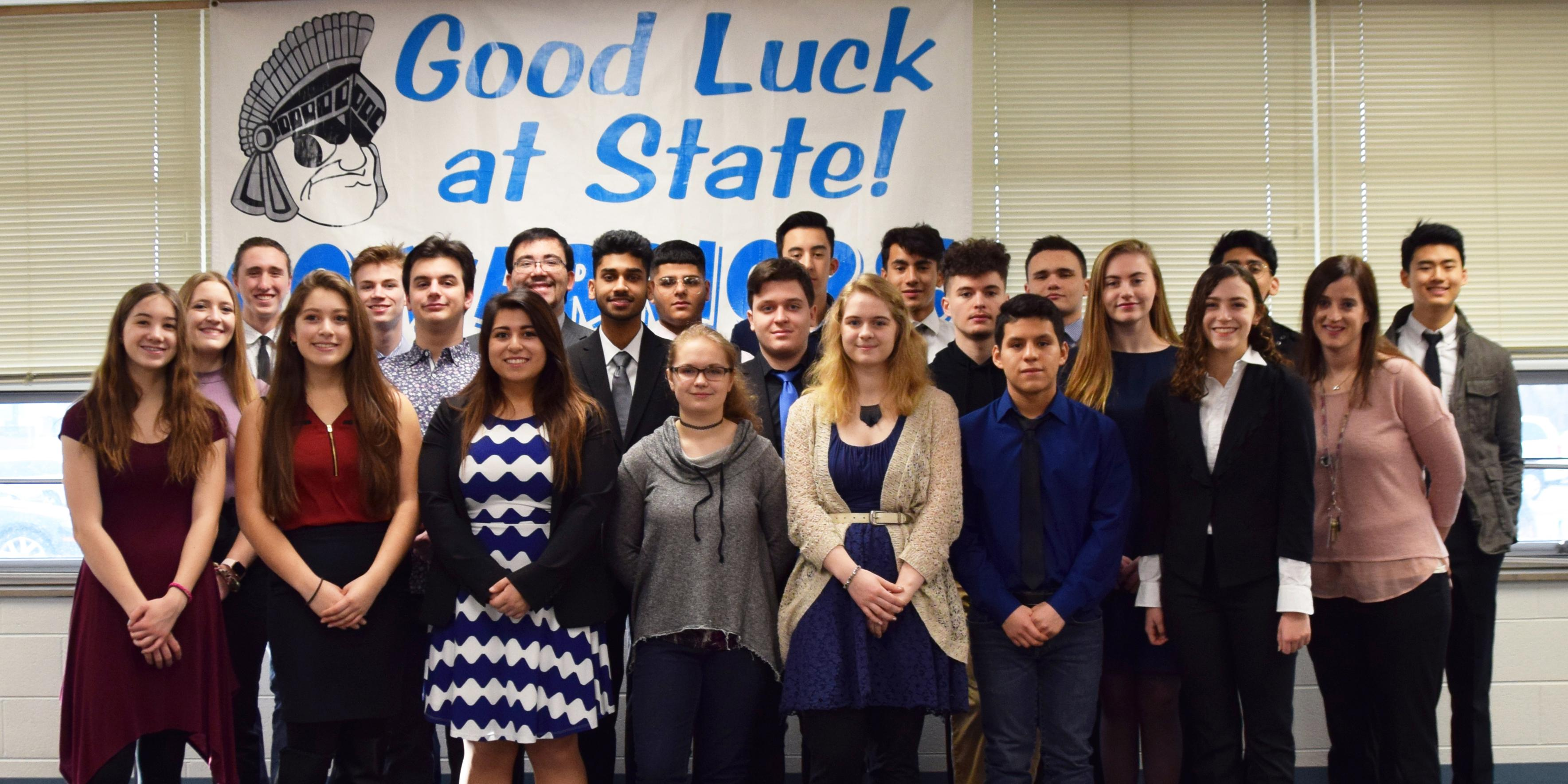 Willowbrook hosts State send-off celebration for 27 members of the DECA Team