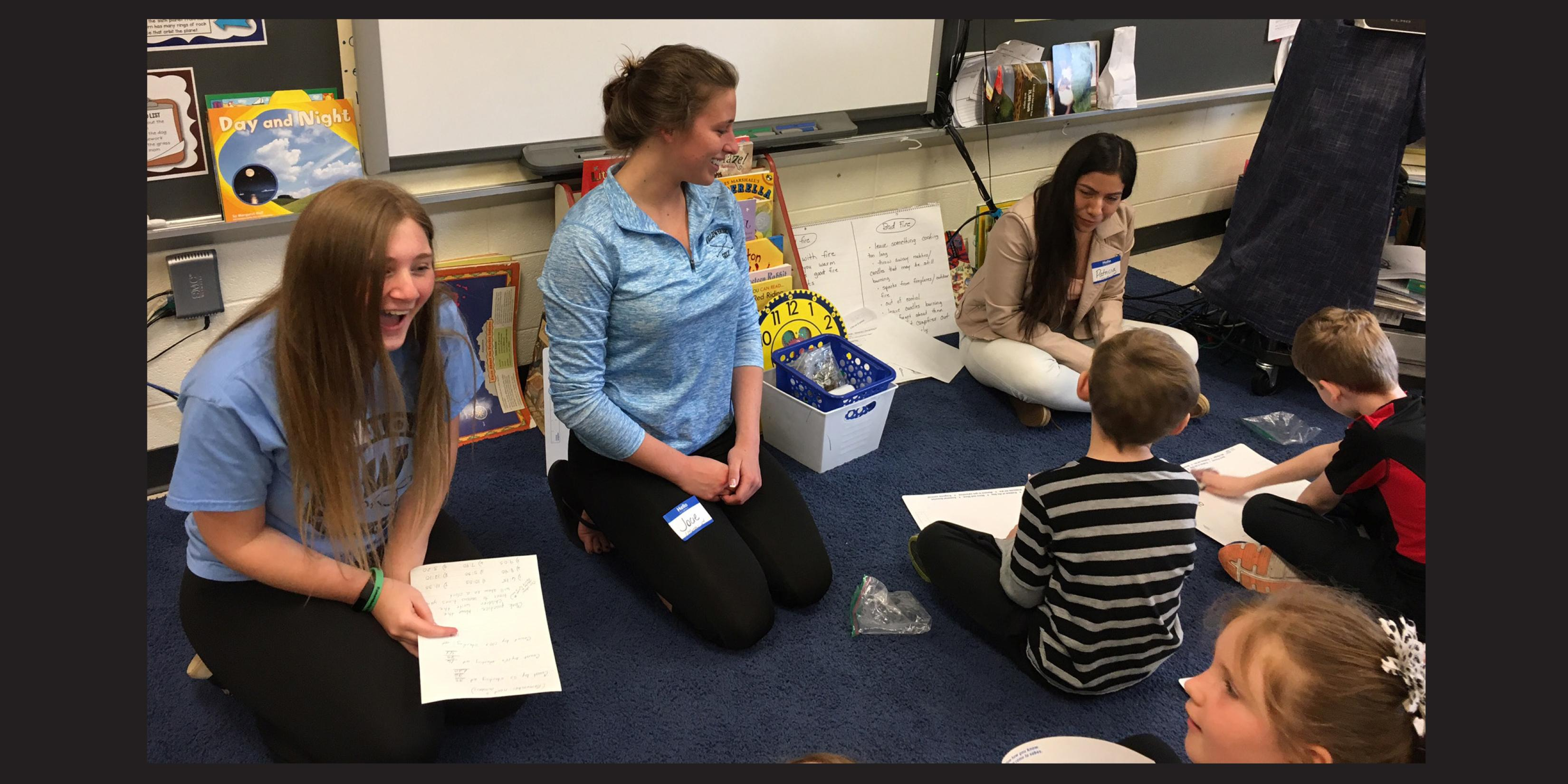 Willowbrook National English Honor Society students visit Westmore Elementary School