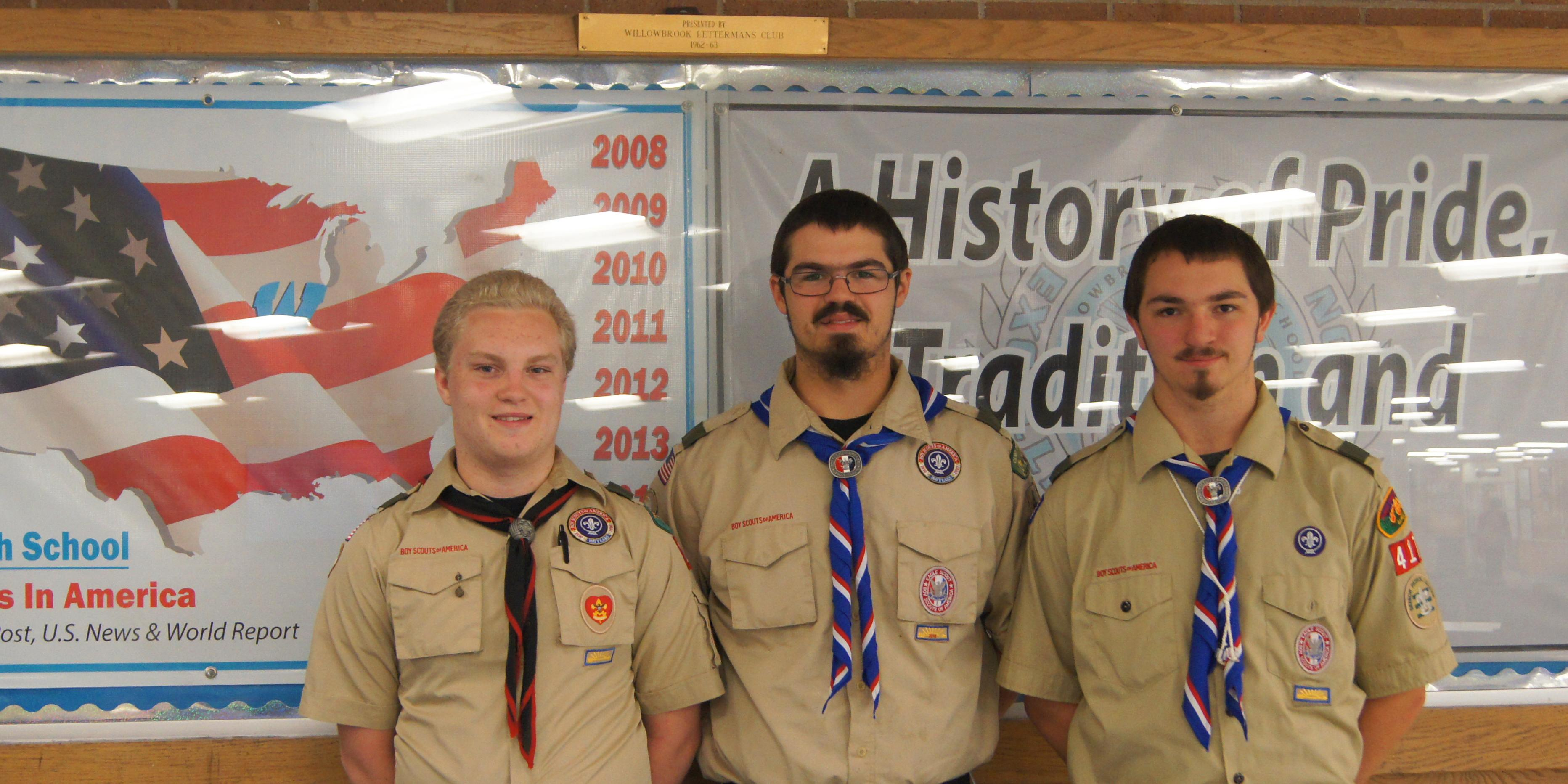 Three Willowbrook students earn Eagle Scout status