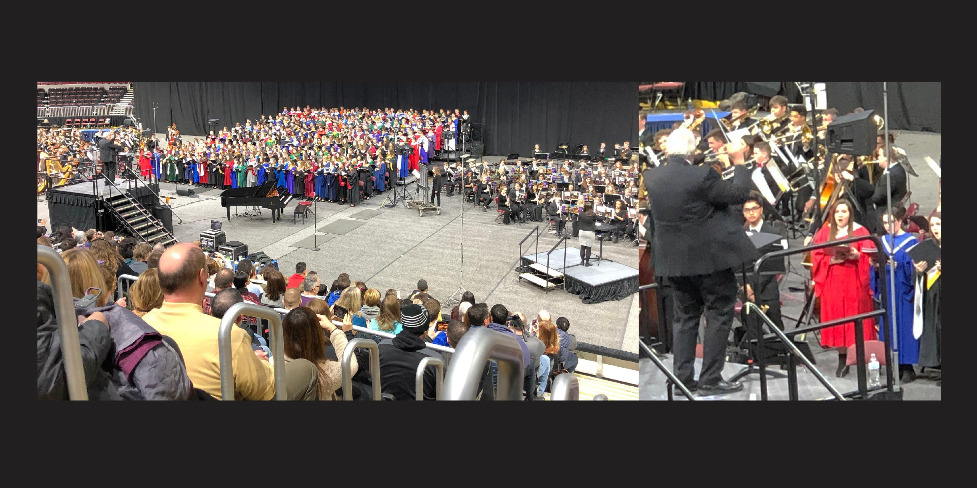 Addison Trail Music Department Head conducts ILMEA All-State Concert finale