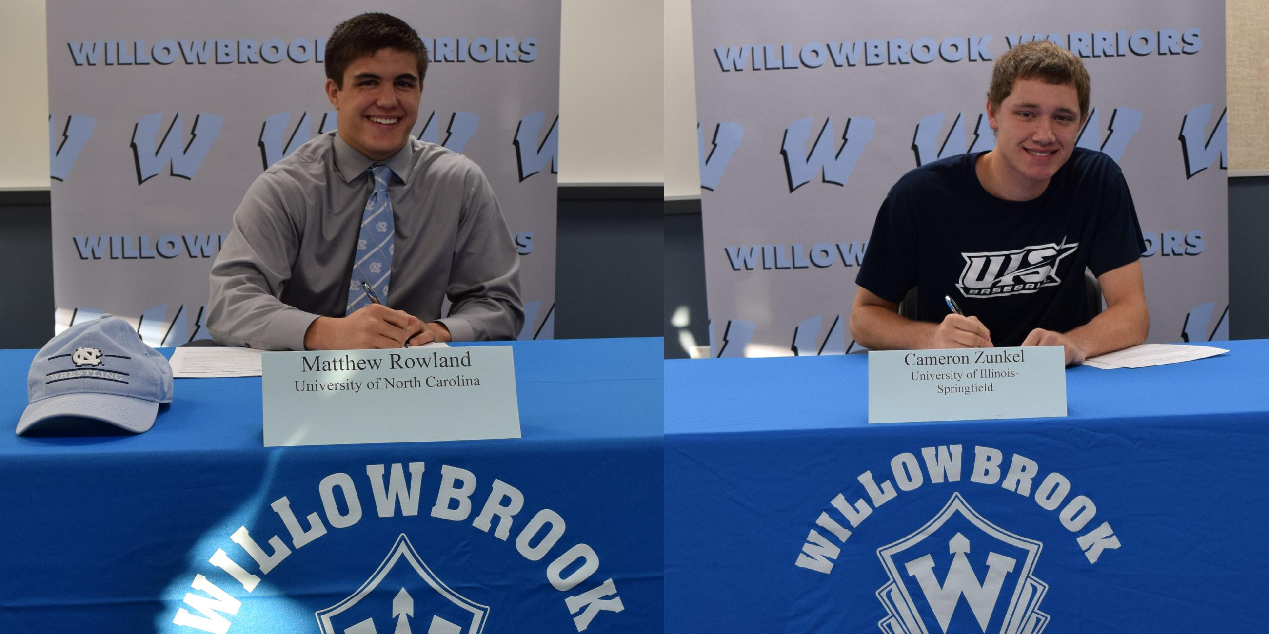 Two Willowbrook student-athletes sign National Letters of Intent