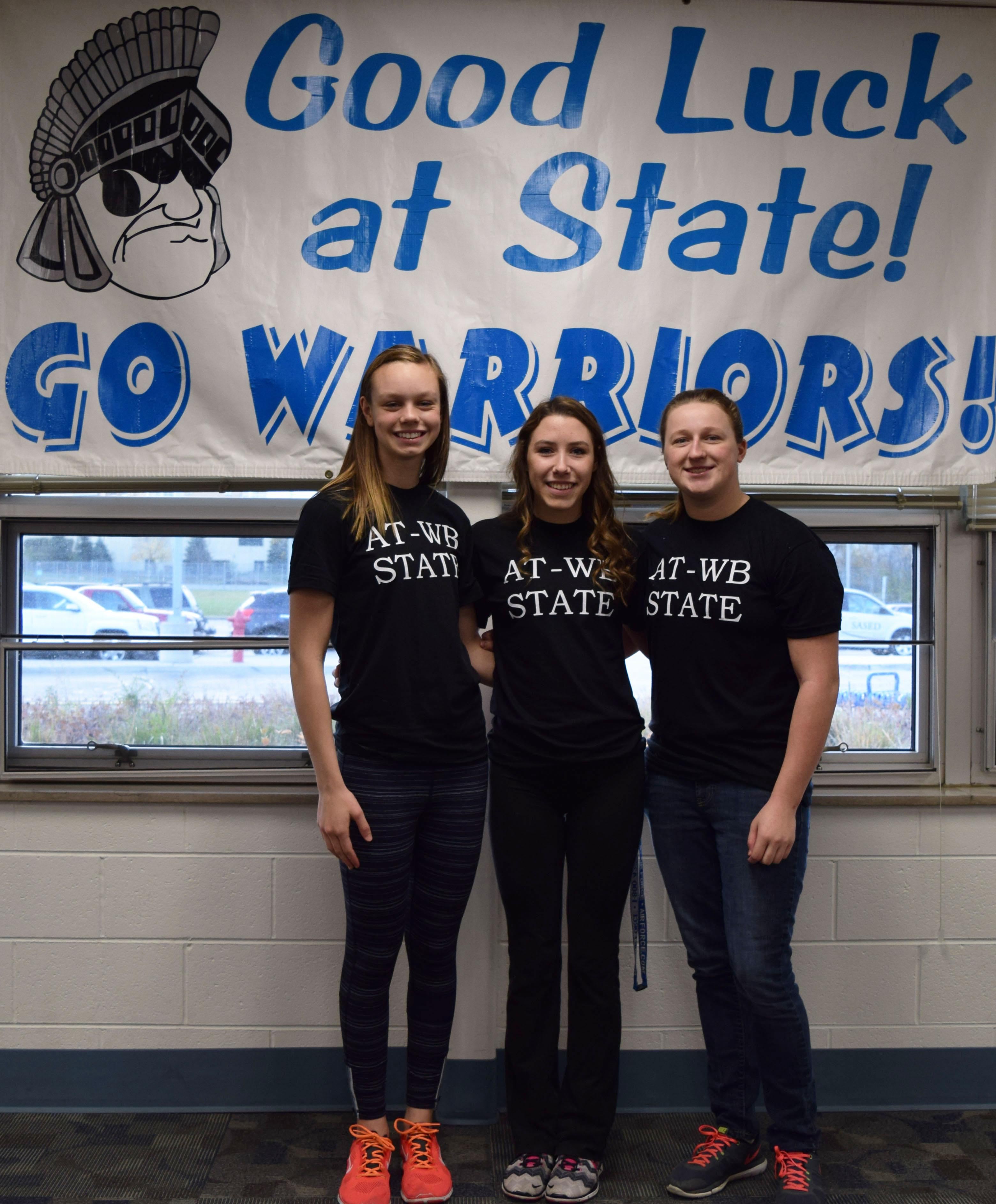 Willowbrook hosts State send-off celebration for three members of the Girls Swim Team