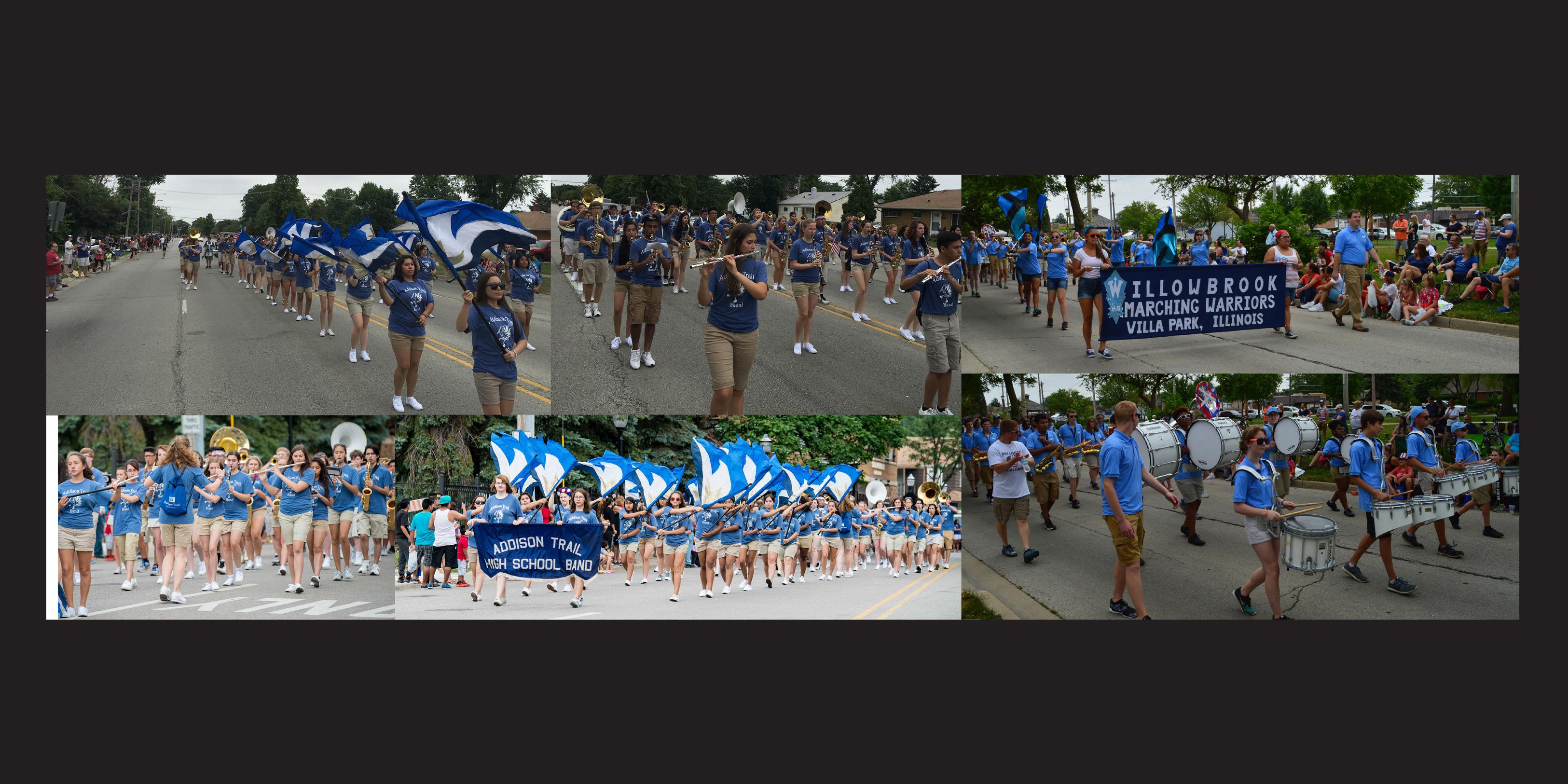 District 88 students participate in Fourth of July parades