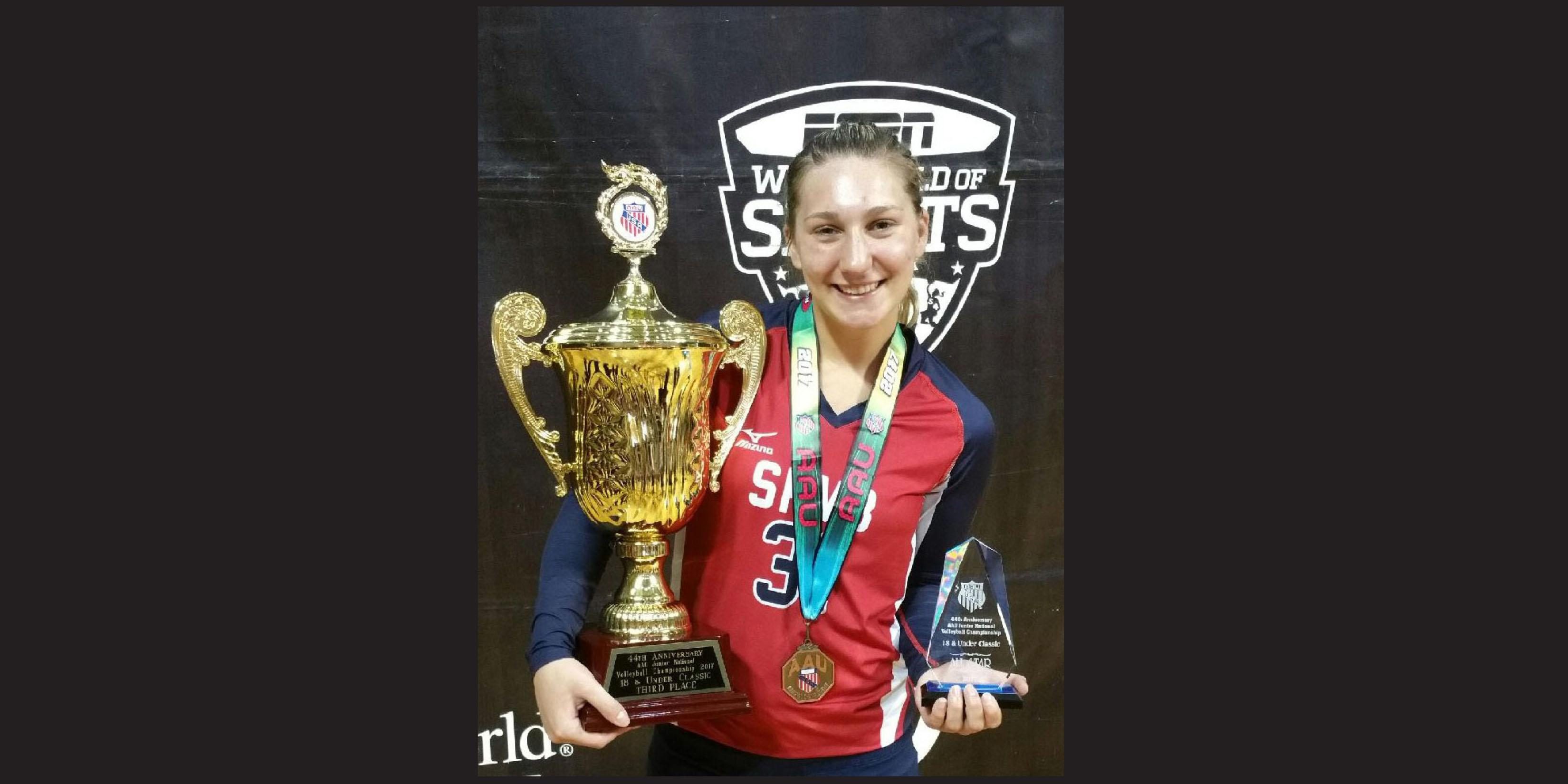 Addison Trail alumna receives All-American recognition during 2017 AAU Girls Junior National Volleyball Championships